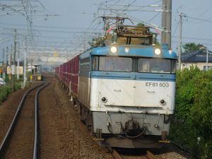 3091レ EF81 503(加賀笠間駅近く車内より)