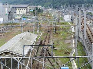 軽井沢駅自由通路から見た横川方