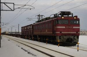 下り遅れ貨物(列番不明) EF81 117